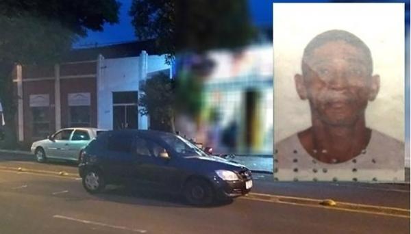 Paulo Rogério Fernandes (no detalhe) morreu após ser atropelado por dois veículos, em Tupã (Fotos: João Trentini/Site Mais Tupã).