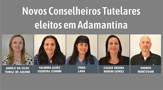 Novos conselheiros tutelares de Adamantina (Fotos: Luan Nóbrega/Diário do Oeste. Arte: Siga Mais).