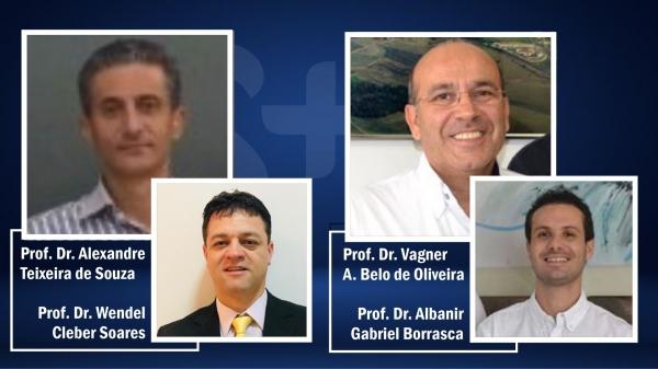 Candidatos a reitor e vice-reitor da UniFAI, para a gestão 2021/2025 (Reprodução).