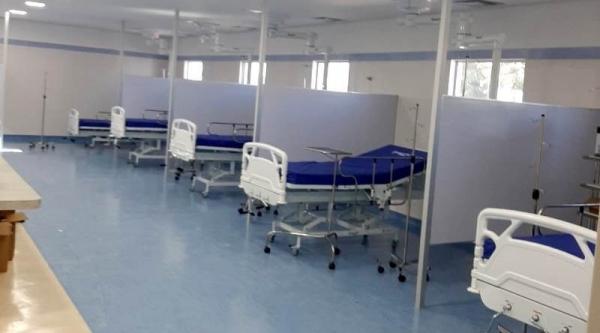 Cinco novos leitos, para pacientes Covid-19, na nova UTI da Santa Casa de Adamantina (Reprodução/Adamantinanet).