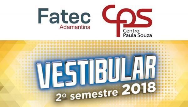 Vestibular FATEC Adamantina: inscrições abertas até 8 de junho