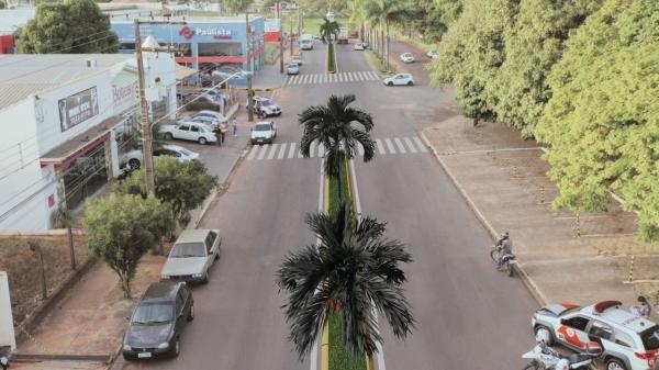 Projeção dos canteiros centrais na Via de Acesso (Divulgação/PMA).