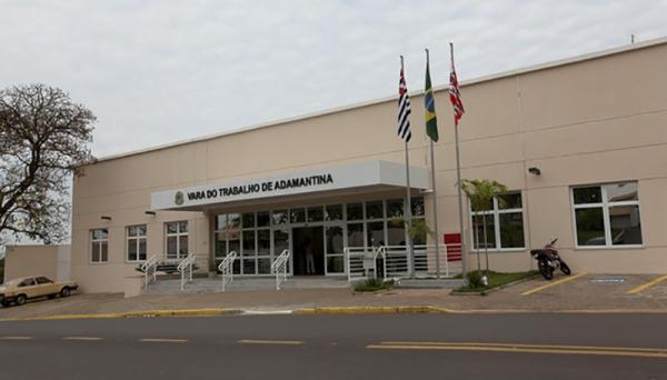 Vara da Justiça do Trabalho, em Adamantina (Foto: TRT-15).