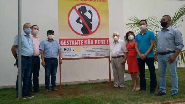Representantes do Rotary e autoridades, na última sexta-feira no CIS (Divulgação/Rotary Club).