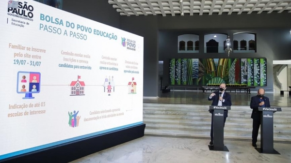 Lançamento do Bolsa do Povo/Educação (SeducSP).